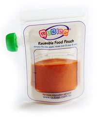 Qubies - Reusable Food Pouches - 10 pack