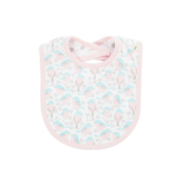 Tiny Twig - Reversible Bib - Love Birds/Little Dots