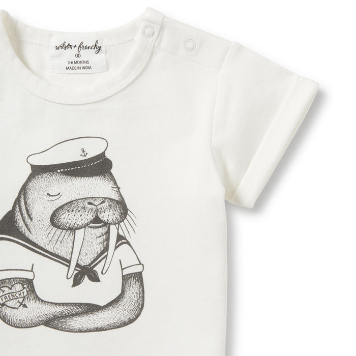 Wilson and Frenchy - Rolled Cuff Tee - Walrus