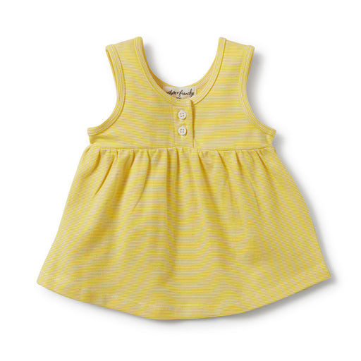 Wilson and Frenchy - Striped Button Tank - Buttercup