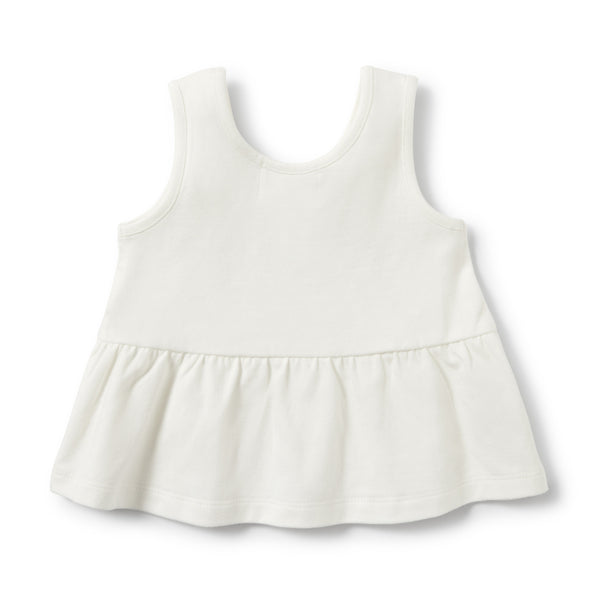Wilson and Frenchy - Peplum Tank - Ecru