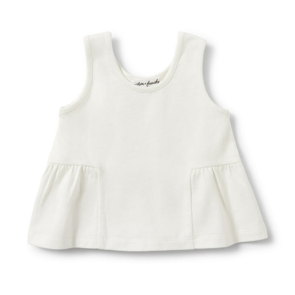 Wilson and Frenchy - Peplum Tank - Ecru - Eco Child