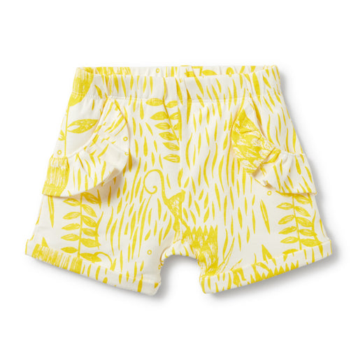 Wilson and Frenchy - Ruffle Pocket Shorts - Mellow Yellow