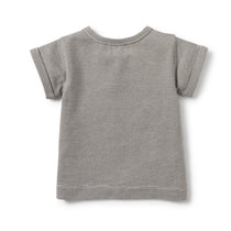 Wilson and Frenchy - Placket Tee - Charcoal Stripe - Eco Child
