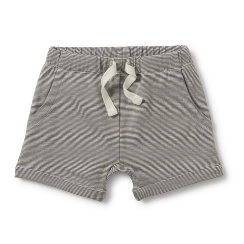 Wilson and Frenchy - Slouch Pocket Shorts - Charcoal Stripe - Eco Child