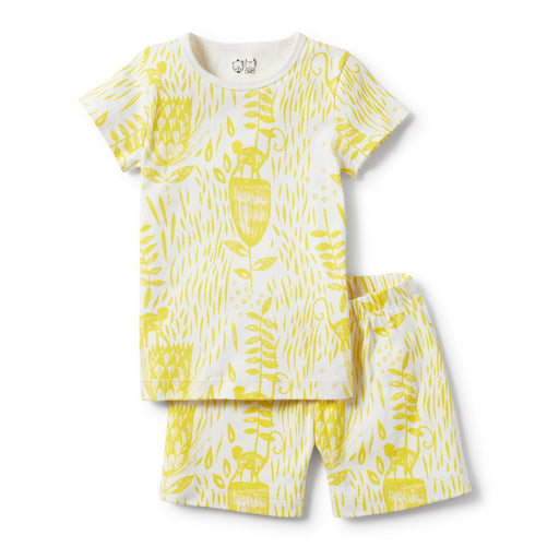 Wilson and Frenchy - Short Sleeve Pyjama Set  - Mellow Yellow
