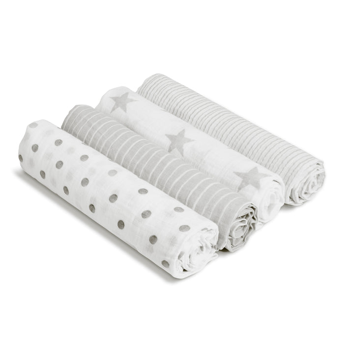 ADEN by Aden and Anais -Muslin Cotton Swaddle 4 Pack - Dusty