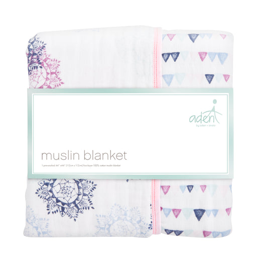 ADEN by Aden and Anais - Dream Blanket - Pretty Pink/Medallion