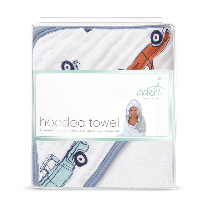ADEN by Aden and Anais - Hooded Towel - Hit the Road
