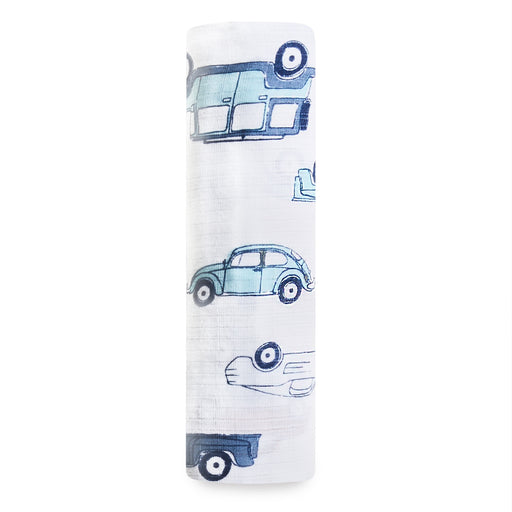ADEN by Aden and Anais - Single Muslin Cotton Swaddle - Hit the Road