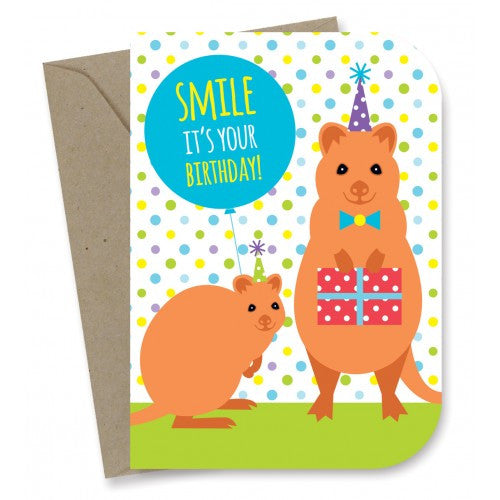 Earth Greetings - 100% Earth Friendly Gift Cards - Smiling Quokkas