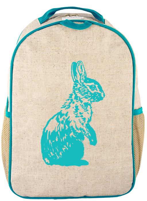 So Young - Grade School BackPack - Aqua Bunny