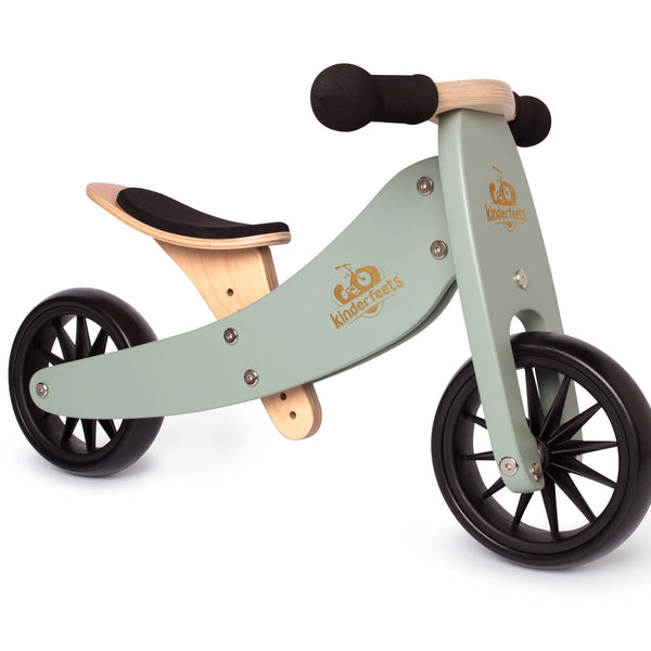 Kinderfeets - Tiny Tot 2 in 1 Tricycle/Balance Bike - Sage - Eco Child