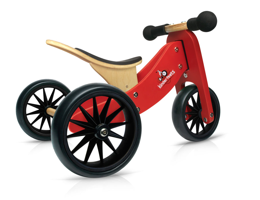Kinderfeets - Tiny Tot 2 in 1 Tricycle/Balance Bike - Red