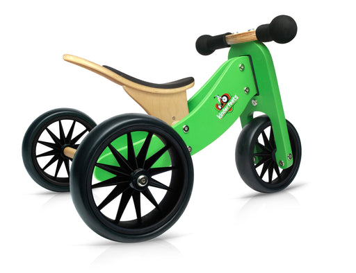 Kinderfeets - Tiny Tot 2 in 1 Tricycle/Balance Bike - Green