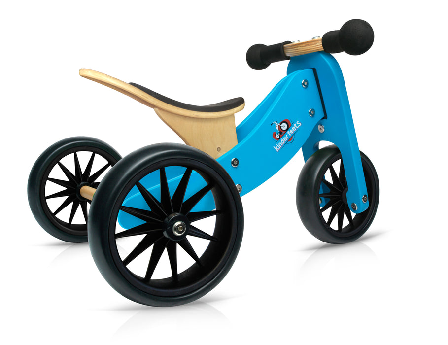 Kinderfeets - Tiny Tot 2 in 1 Tricycle/Balance Bike - Blue