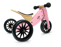 Kinderfeets - Tiny Tot 2 in 1 Tricycle/Balance Bike - Pink, , Best Sellers, kinder feet, Kinderfeets, toys, Toys, wooden toys for babies, baby toys, newborn toys, baby wooden toys, wooden toys, sustainable, Eco friendly, environment friendly, Eco, Natural, eco products in Australia