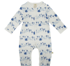 Tiny Twig - Long Sleeve Snap Growsuit with Feet - Arctic Bear