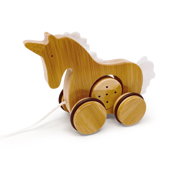 Kinderfeet - Pull Toy Unicron - Bamboo - Eco Child