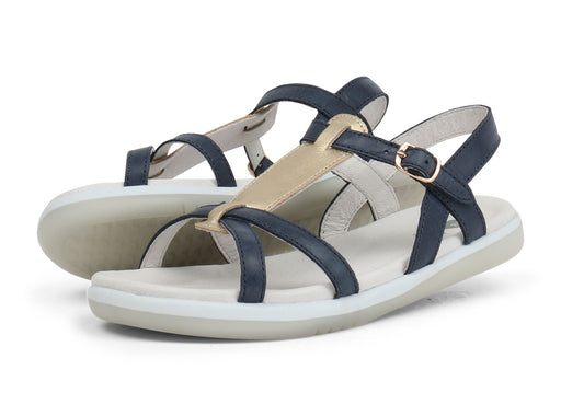 Bobux - Kid Plus - Pixie Sandal - Navy/Misty Gold