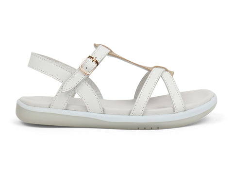 Bobux - Kid Plus - Pixie Sandal - White/Misty Gold - Eco Child