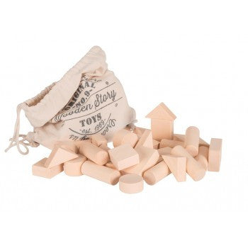 Wooden Story - Natural Block Set - 50 Pieces