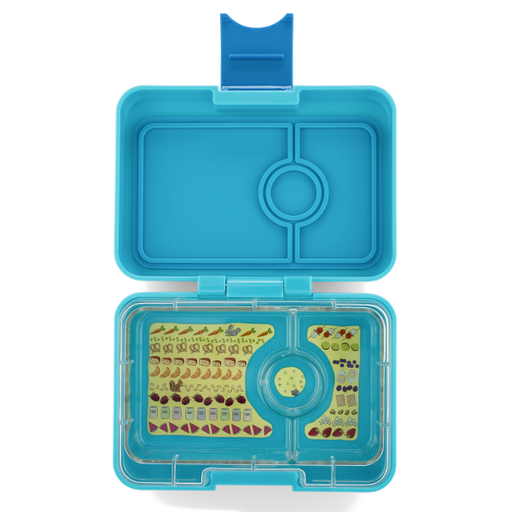 Yumbox - Mini Snack - 3 Compartment - Blue Fish
