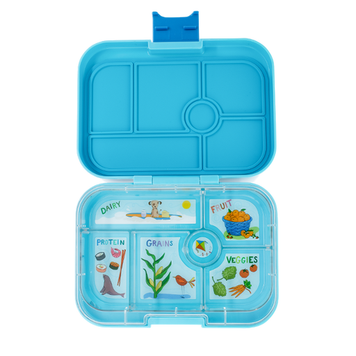 Yumbox - Original - 6 Compartment - Blue Fish