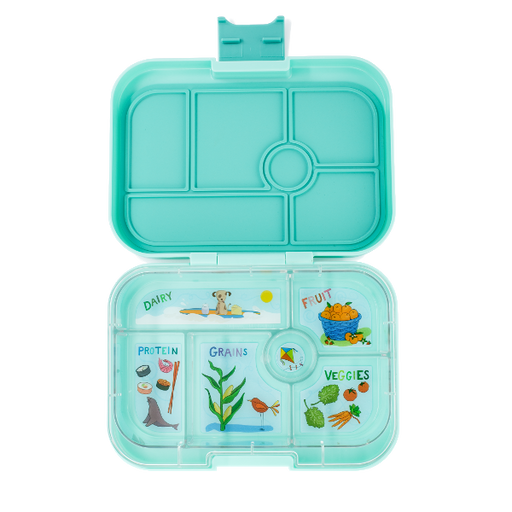 Yumbox - Original - 6 Compartment - Surf Green