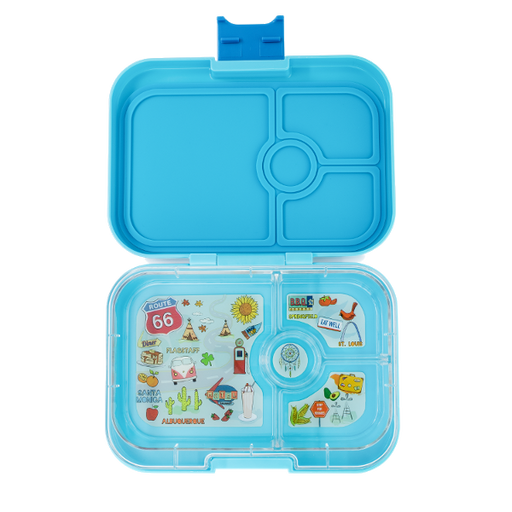 Yumbox - Panino - 4 Compartment - Blue Fish