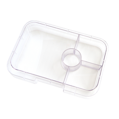 Yumbox - Tapas - Interchangeable Tray - 4 Compartment - Clear