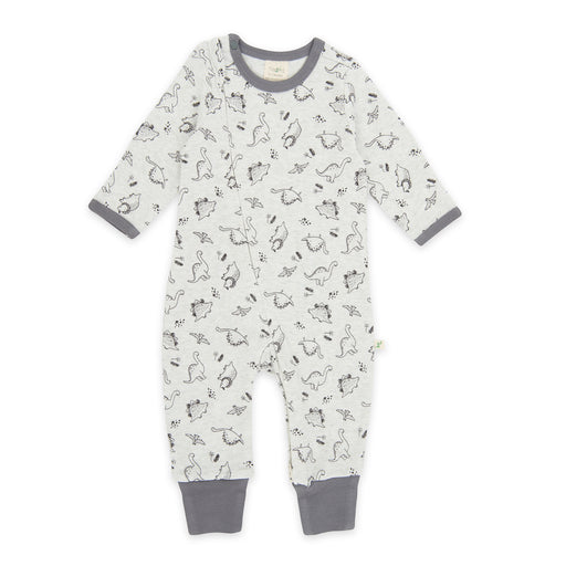 Tiny Twig - Long Sleeve Zipsuit - Dino Print