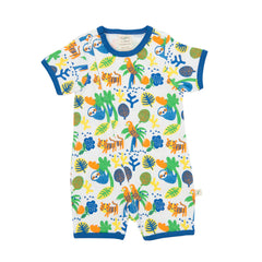Tiny Twig - Short Sleeve Zipsuit - Rainforest