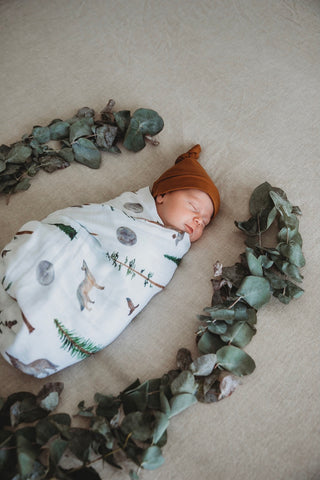 Snuggle Hunny Kids - Alpha Wolf Organic Muslin Wrap - Eco Child