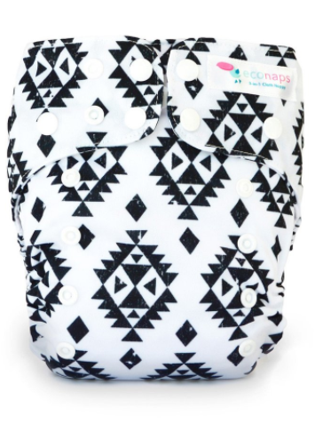 EcoNaps - Reusable Modern Cloth Nappy - Aztec Black