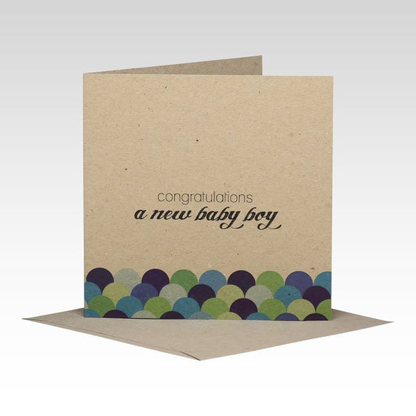 Rhi Creative  - New Baby Boy Card - Eco Child