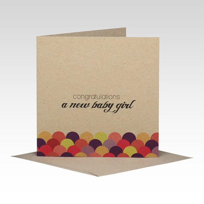 Rhi Creative  - New Baby Girl Card - Eco Child
