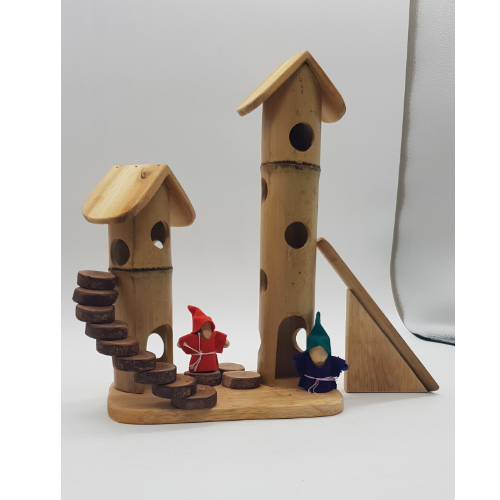 Qtoys - Natural Bamboo Gnome Play set - Eco Child