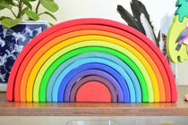 Bigjigs Toys - Large Wooden Stacking Rainbow - Eco Child