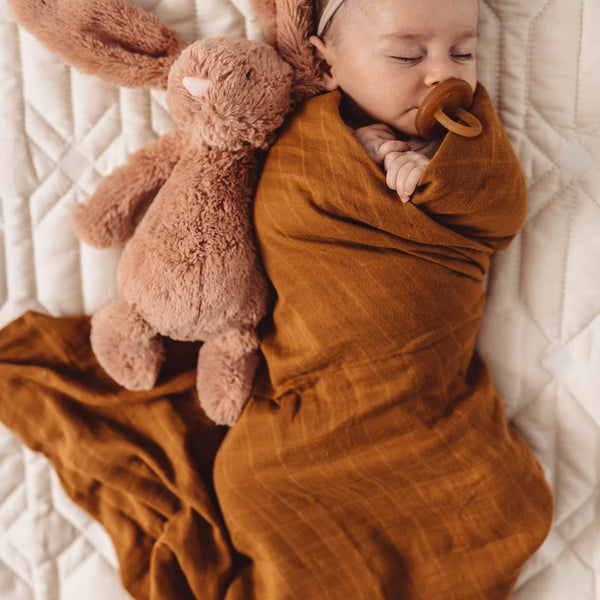 Snuggle Hunny Kids -Bronze Organic Muslin Wrap - Eco Child