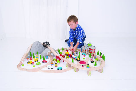 Bigjigs Toys - Mountain Railway Train Set - Eco Child