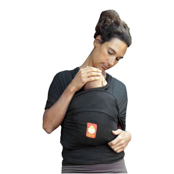 Hana - Bamboo Baby Wrap Carrier Charcoal - Eco Child
