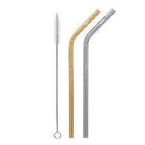 CHEEKI - Stainless Steel - Drinking Straws Bent - Eco Child