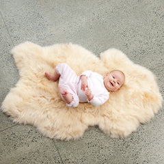 EcoWool - Sheepskin Baby Rug - Long Pile - Honey