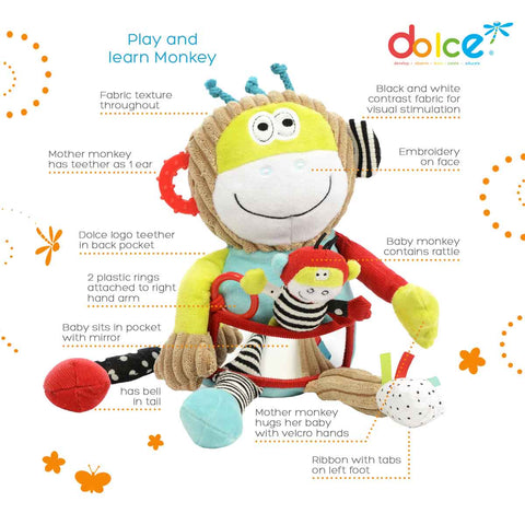 Dolce Toys - Play and Learn Monkey - Eco Child