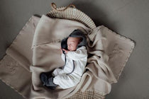 PoP Ya Tot - Heirloom Embroidered Blanket - 100% Cotton Eggshell - Eco Child