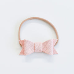 "Bonnie & Harlo - ""Harlo"" Bow Single Headband - Blush"