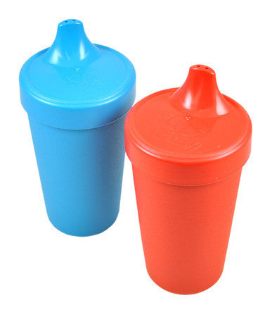 Re-Play Spill Proof Drinking Cups - 2 Pack - Red & Sky Blue