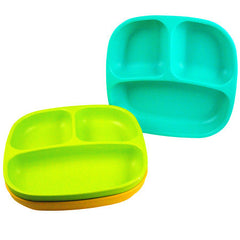 Re-Play Plates - 3 Pack - Aqua, Green & Sunny Yellow