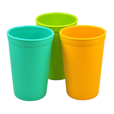 Re-Play Drinking Cups - 3 Pack - Aqua, Green & Sunny Yellow